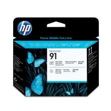 HP Cabezal de impresión 91 negro fotográfico y gris claro