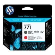 HP Cabezal de impresión DesignJet 771 negro mate/rojo cromático