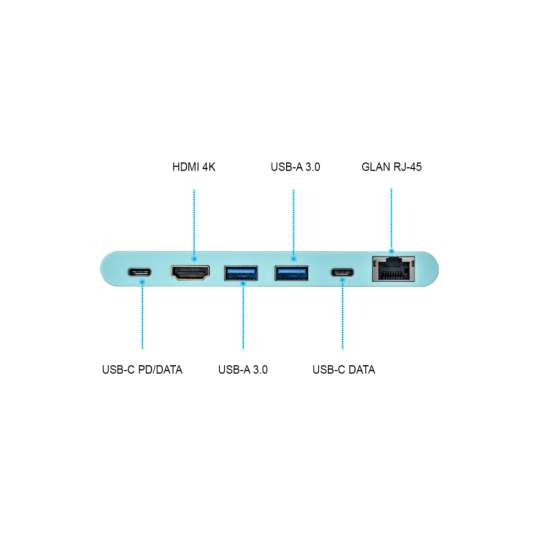 I-tec USB-C 4K Travel replicador de puertos – adaptador multifuncional thumb 7