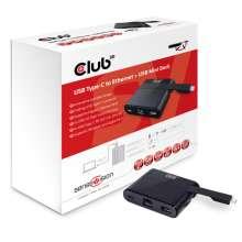 Club3d Mini Dock USB Type-C to Ethernet + USB3.0 Type C Charging