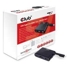 Club3d Mini Dock USB Type-C to HDMI2.0 + USB2.0 Type C Charging