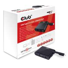 Club3d Mini Dock USB Type-C to VGA + USB3.0 Type C Charging