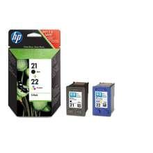 HP 21/22 - Negro, Cian, magenta, Amarillo, (Pack de 2)
